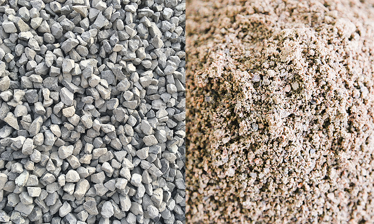 artificial sand and gravel