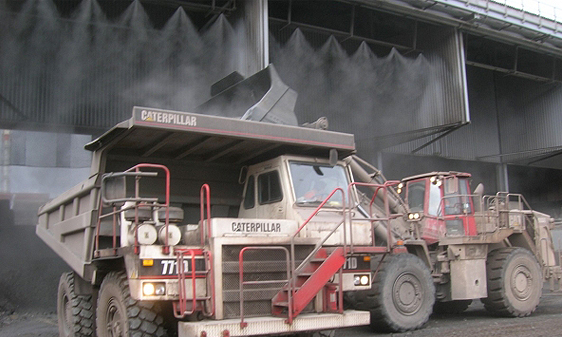 Dry mist dust suppression system