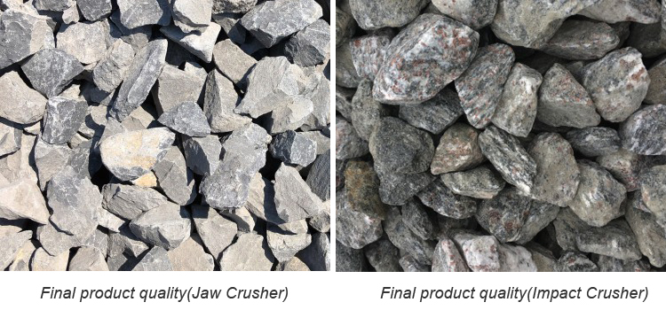 Jaw and impact crusher final product quality