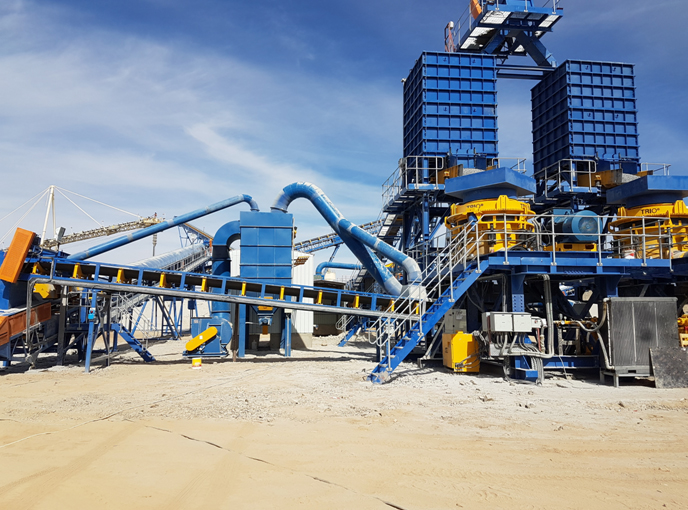 Dust collector for quarry