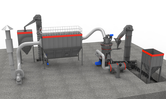 Vertical mill system